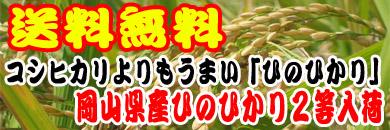 送料無料 岡山県産ひのひかり2等玄米